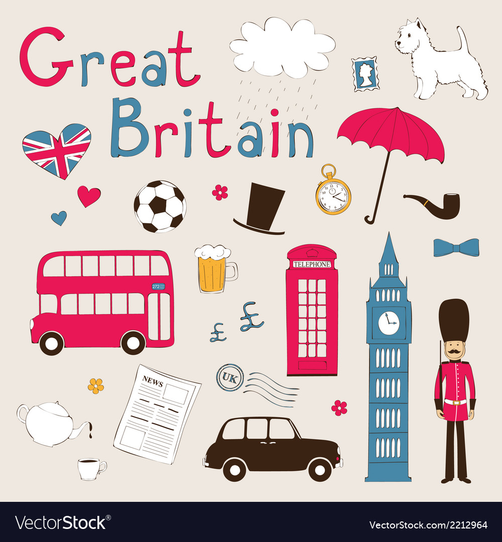 Great britain set vector | Price: 1 Credit (USD $1)