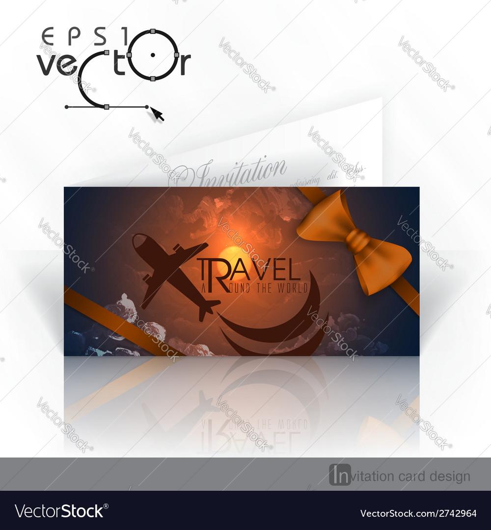 Invitation card design template vector   Price: 1 Credit (USD $1)
