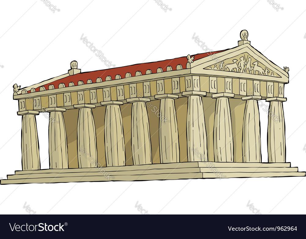 Parthenon vector | Price: 1 Credit (USD $1)