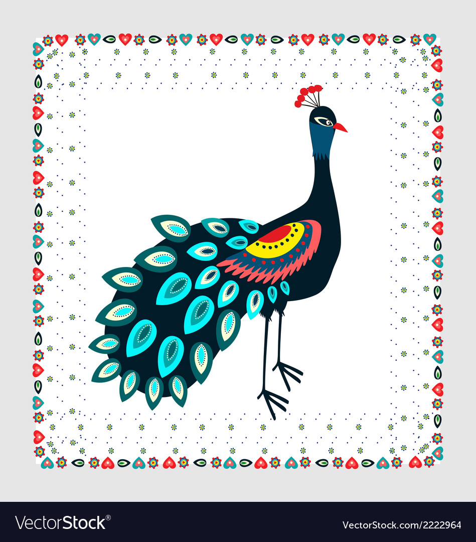 Peacock embroidery vector | Price: 1 Credit (USD $1)