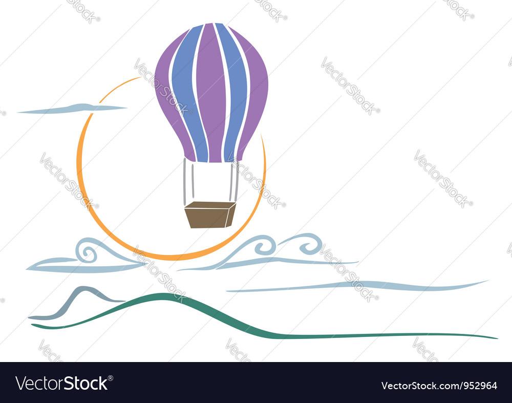Sky balloon vector | Price: 1 Credit (USD $1)