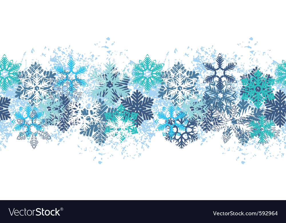 Snow border vector | Price: 1 Credit (USD $1)