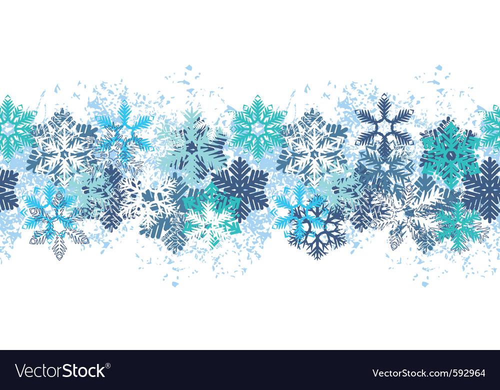 Snow border vector | Price: 1 Credit (USD $1)