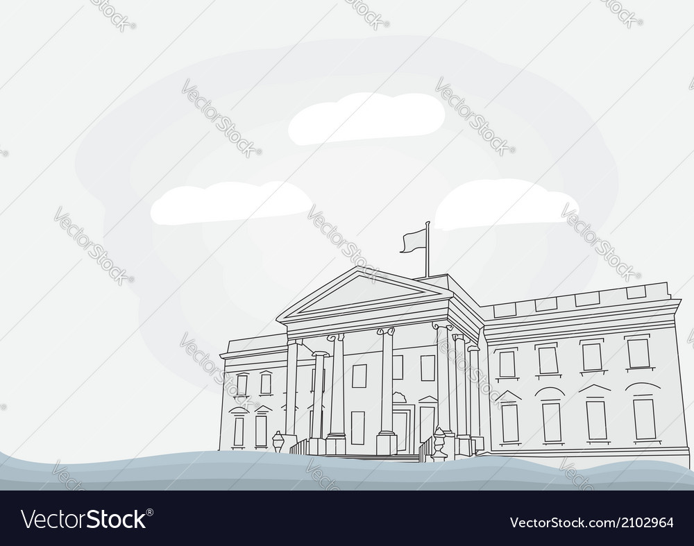 The white house in washington vector | Price: 1 Credit (USD $1)