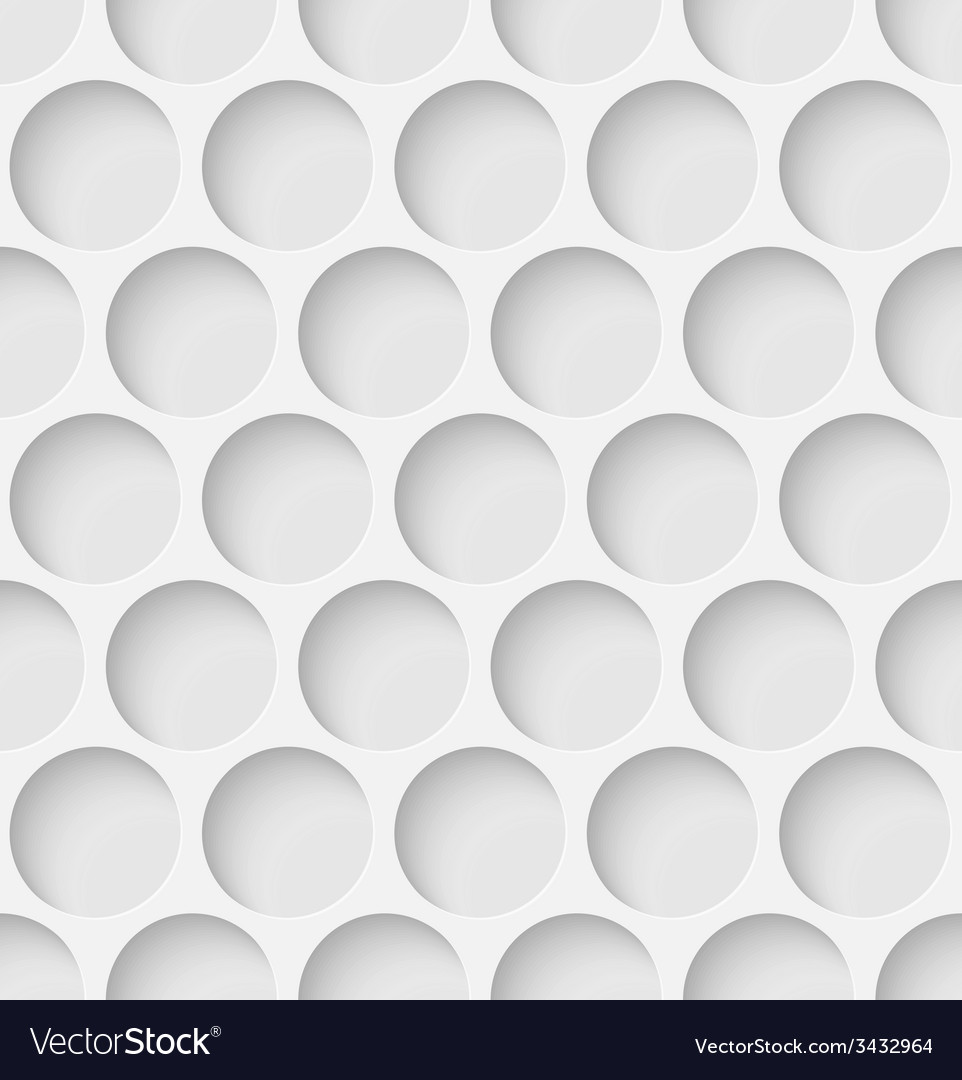 White paper seamless circle background vector | Price: 1 Credit (USD $1)