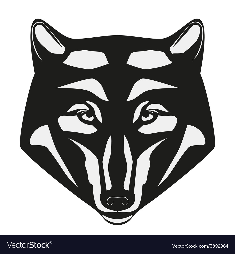 Wolf head mascot vector | Price: 1 Credit (USD $1)