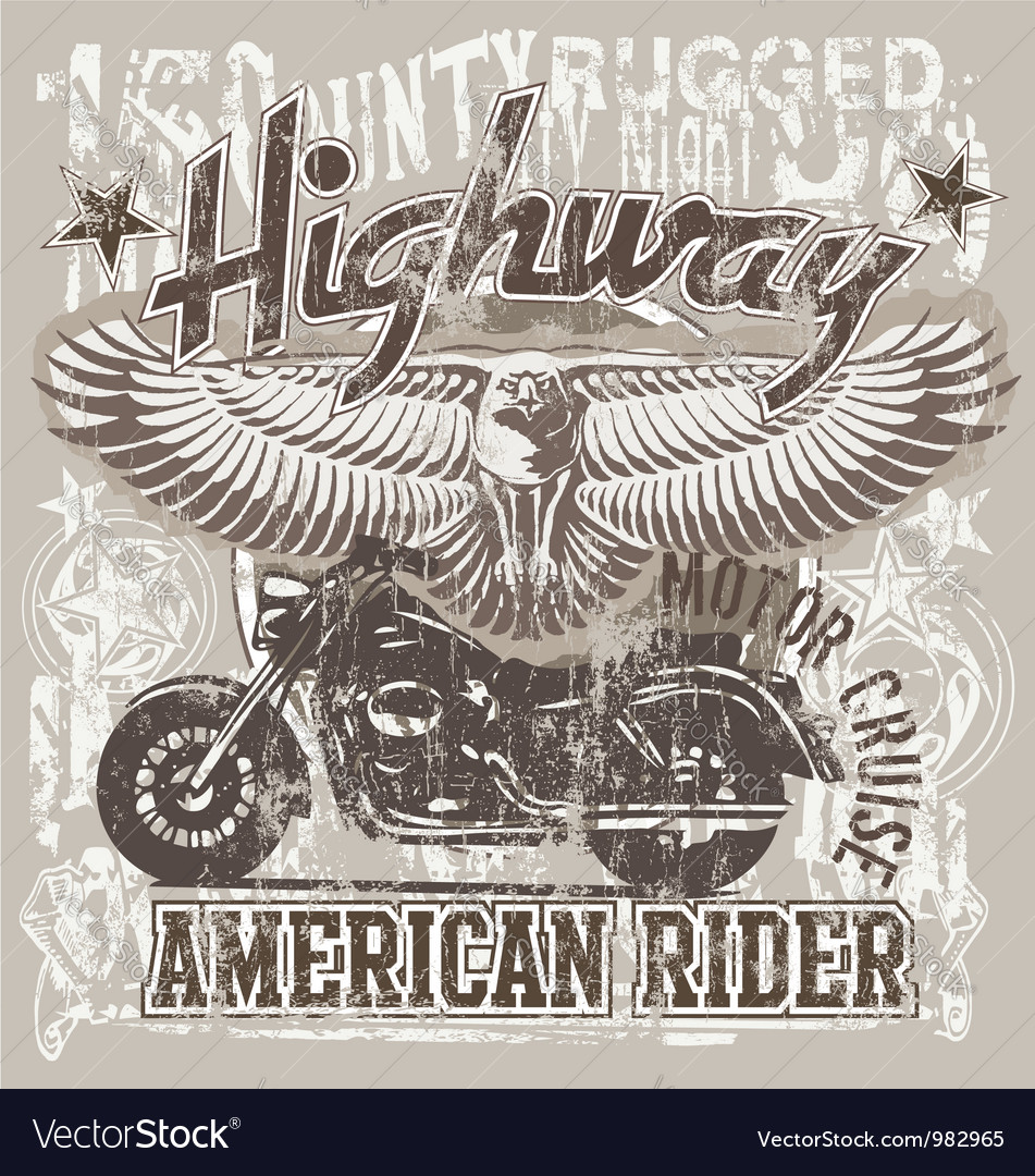 American highways rider vector | Price: 1 Credit (USD $1)
