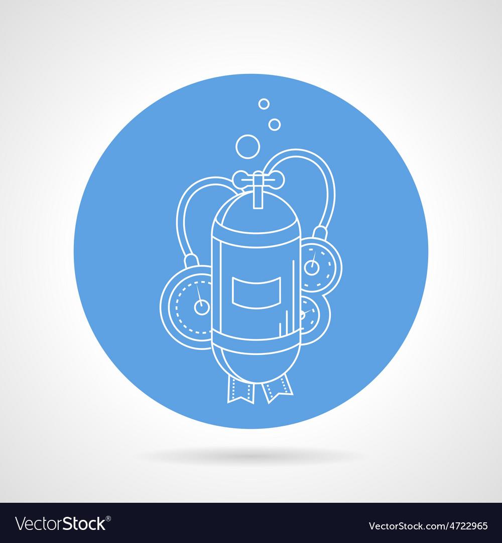 Aqualung cylinder round icon vector | Price: 1 Credit (USD $1)