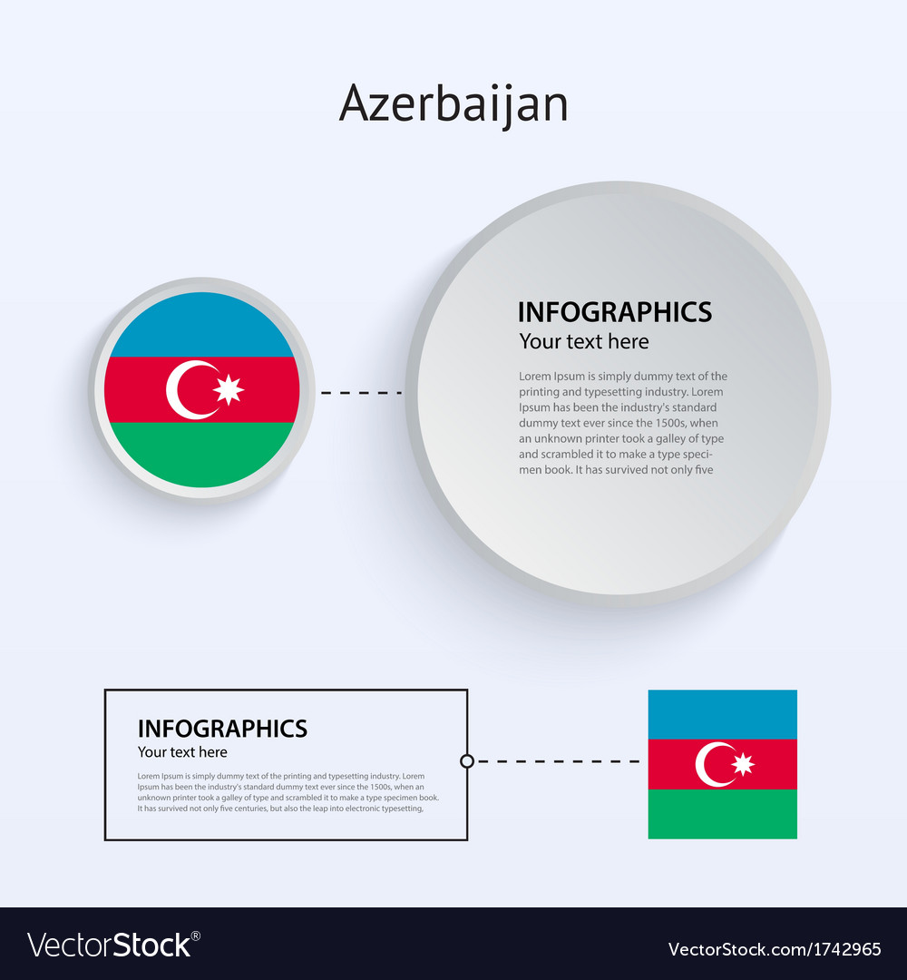Azerbaijan country set of banners vector | Price: 1 Credit (USD $1)