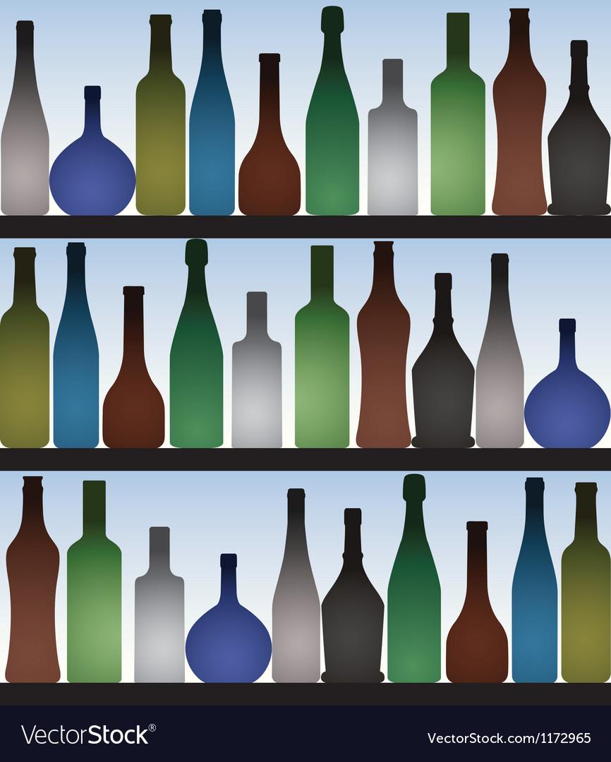 Bottles in bar vector   Price: 1 Credit (USD $1)