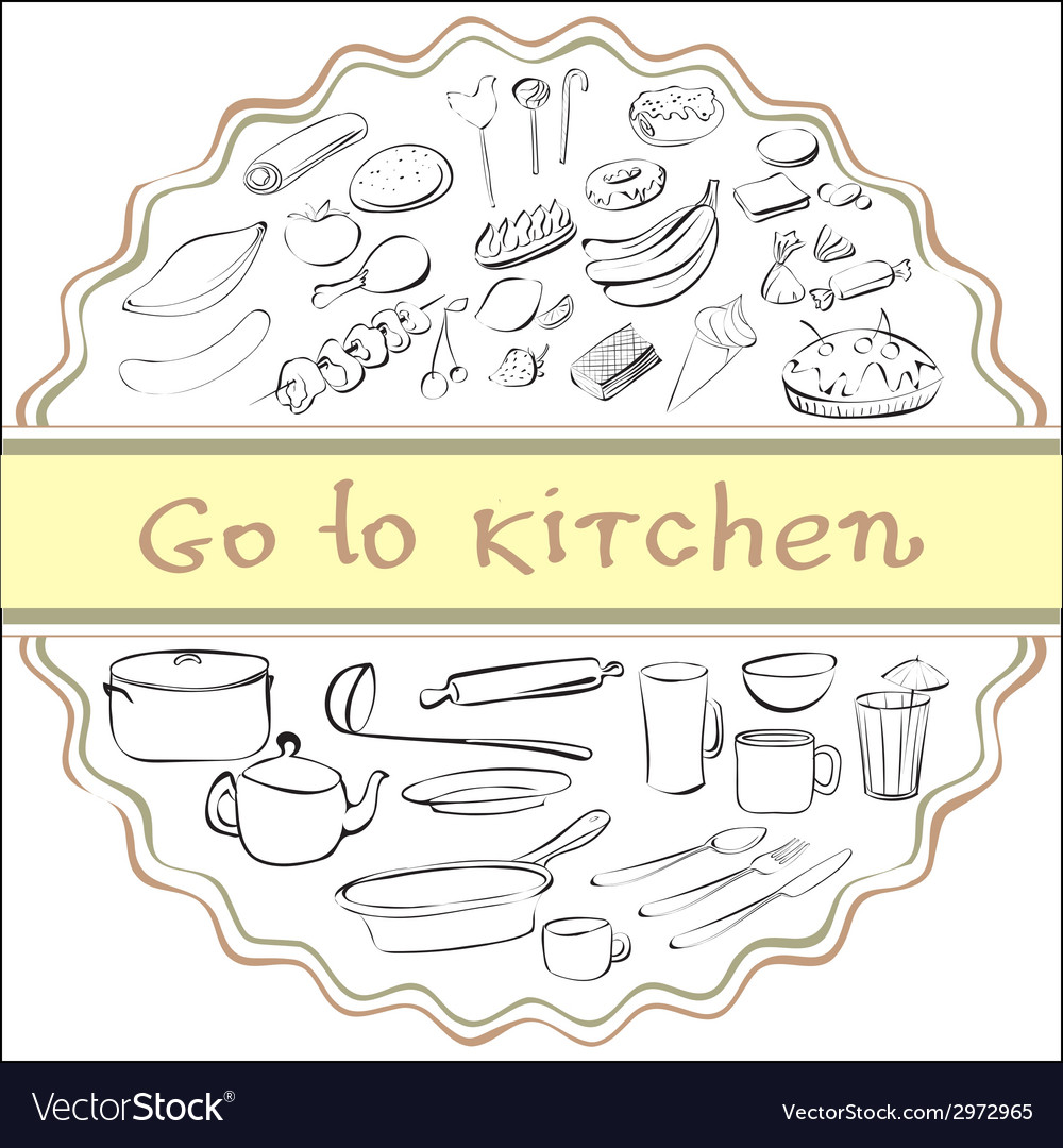 Go to kitchen vector | Price: 1 Credit (USD $1)