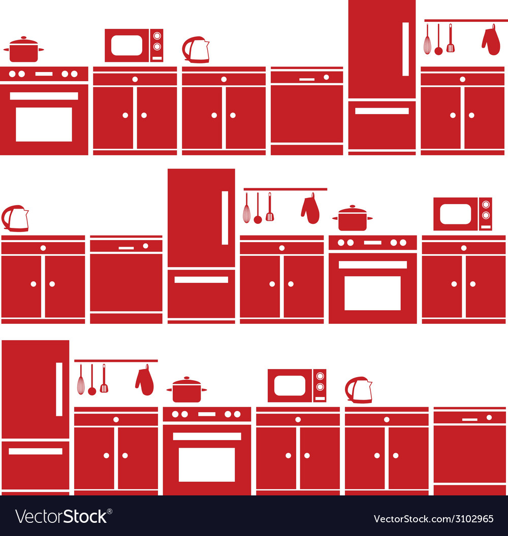 Kitchen equipment seamless pattern vector | Price: 1 Credit (USD $1)
