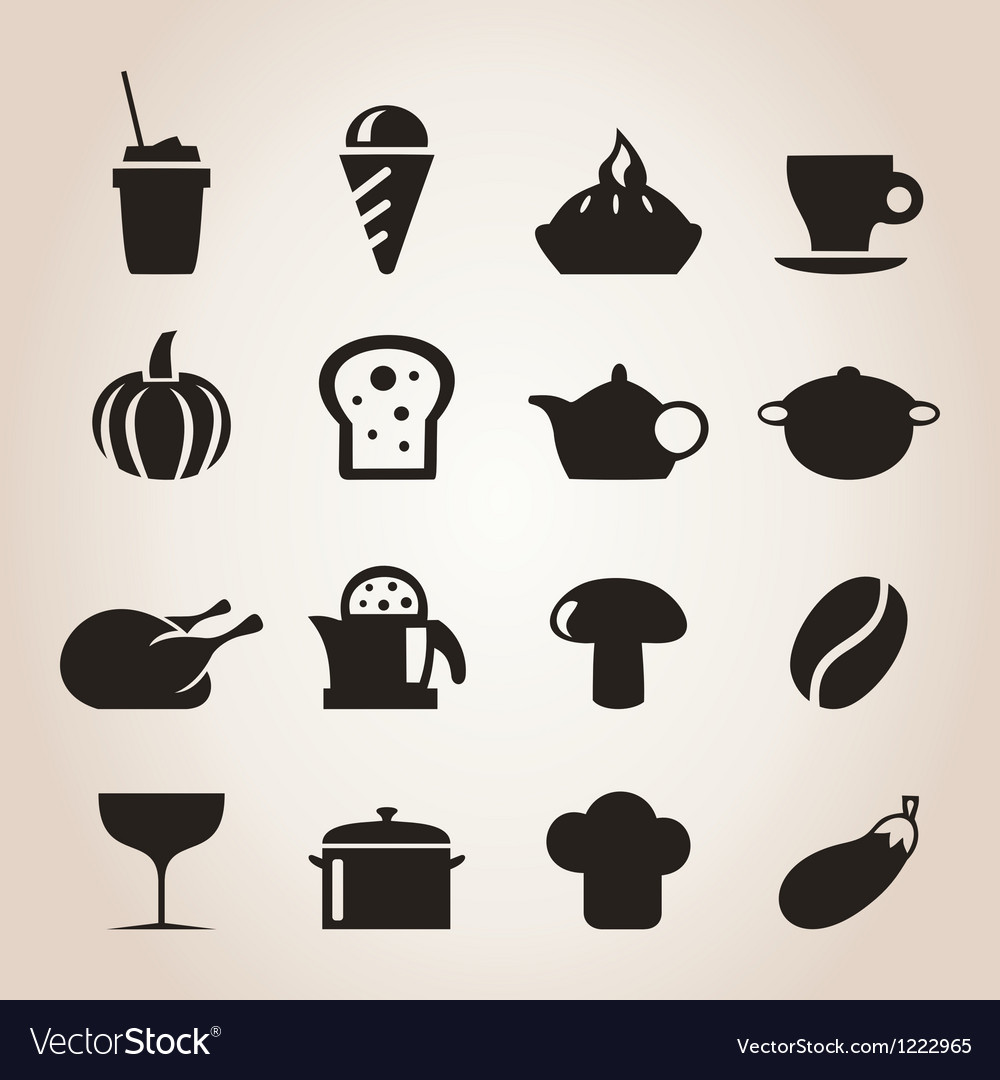 Meal icons7 vector | Price: 1 Credit (USD $1)