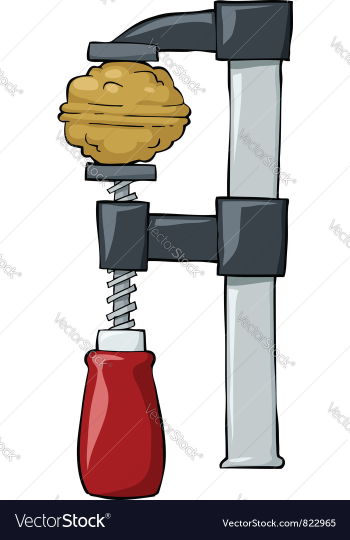 Nut in clamp vector | Price: 3 Credit (USD $3)