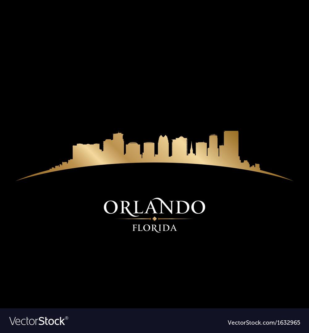 Orlando florida city skyline silhouette vector | Price: 1 Credit (USD $1)