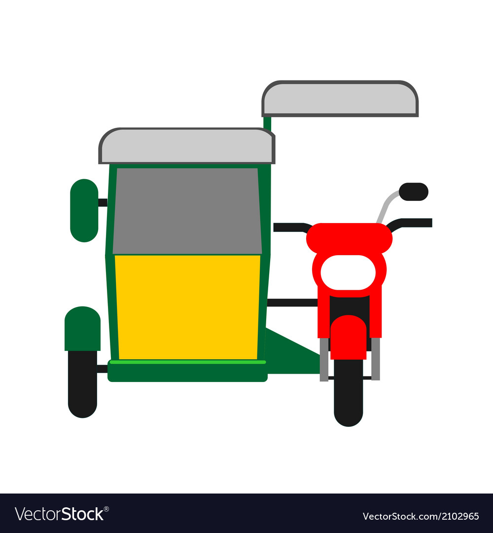 Philippine tricycle vector | Price: 1 Credit (USD $1)