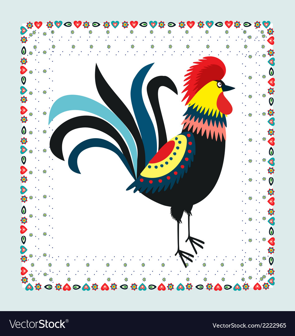 Rooster embroidery vector | Price: 1 Credit (USD $1)