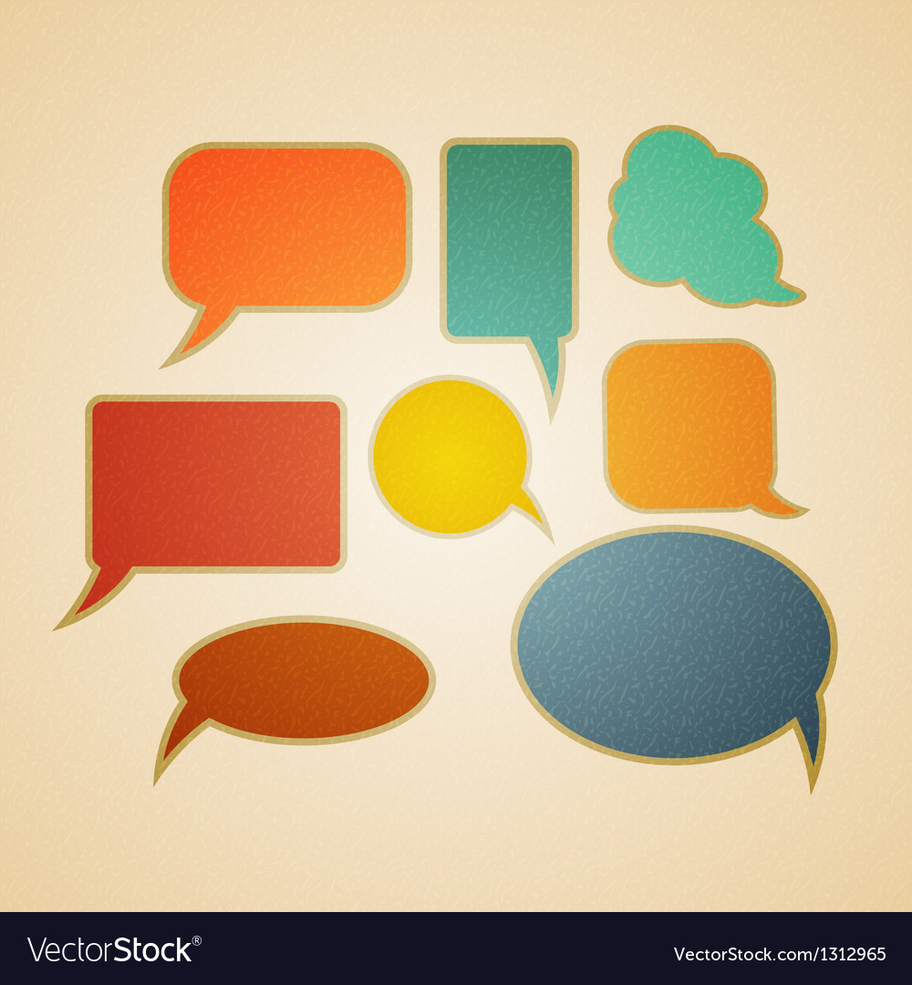 Speech bubbles in retro style vector | Price: 1 Credit (USD $1)