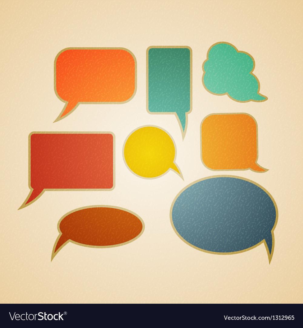 Speech bubbles in retro style vector | Price: 1 Credit (USD $1)