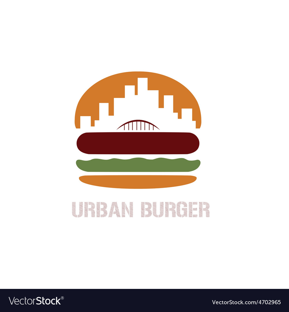 Urban burger concept vector | Price: 1 Credit (USD $1)
