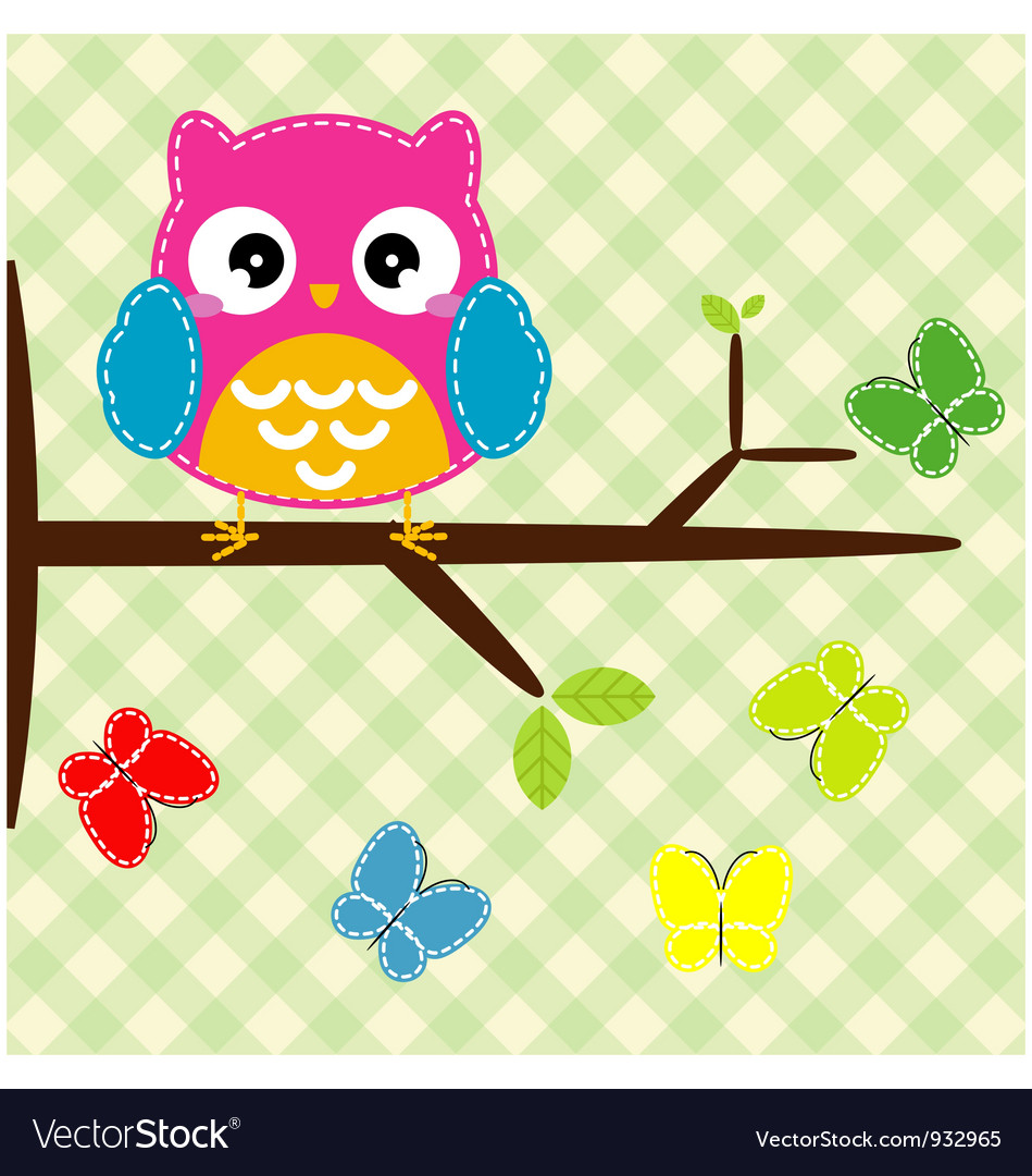 Whimsical owl vector | Price: 1 Credit (USD $1)