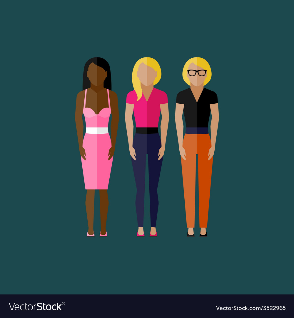 Women appearance icons people flat icons vector | Price: 1 Credit (USD $1)