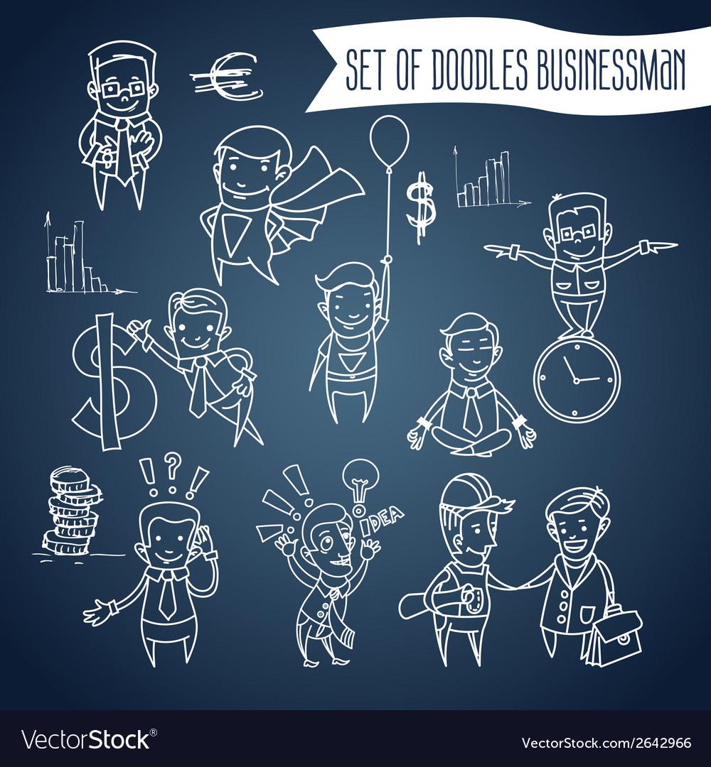 A cartoon businessman vector | Price: 1 Credit (USD $1)