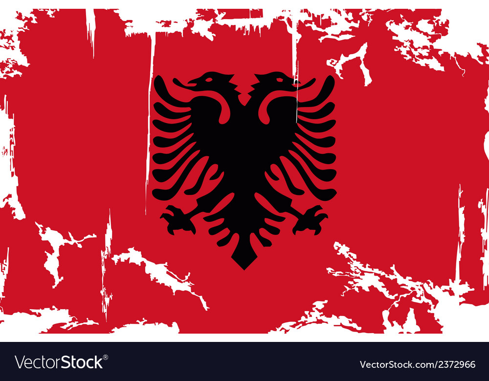 Albanian grunge flag vector | Price: 1 Credit (USD $1)