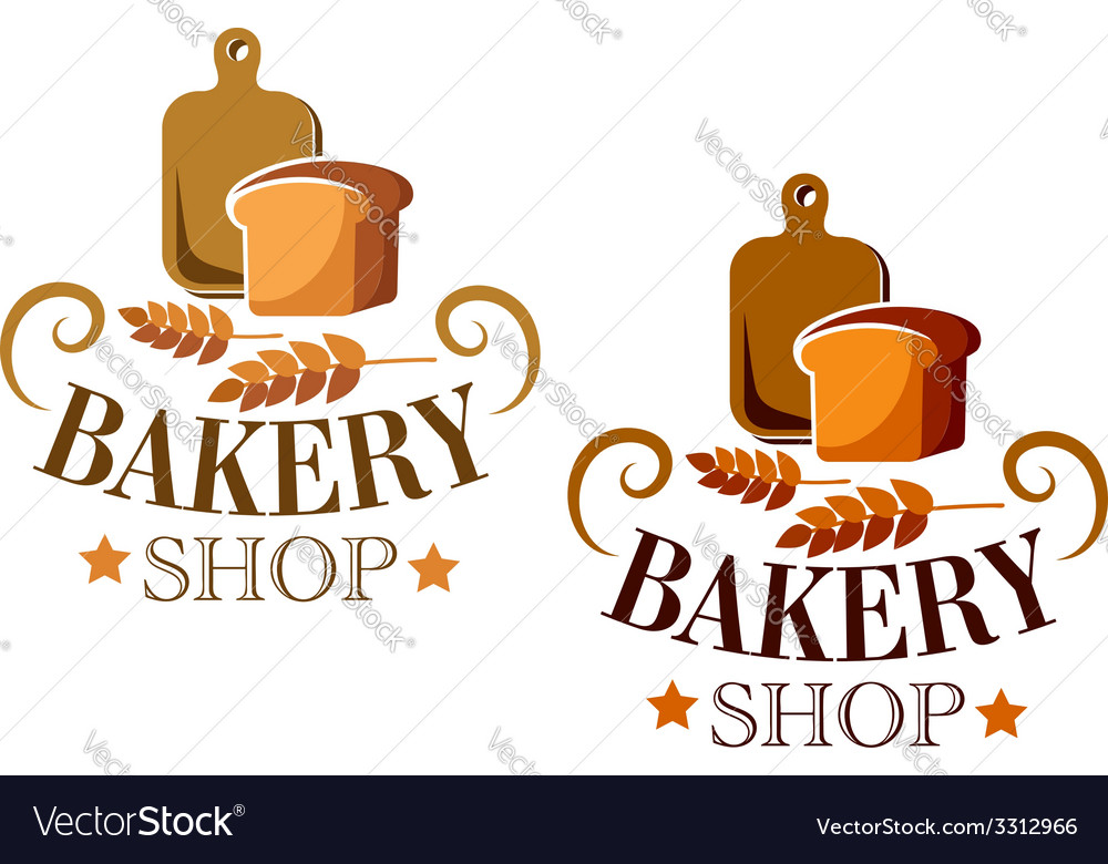 Bakery shop sign or label vector | Price: 1 Credit (USD $1)