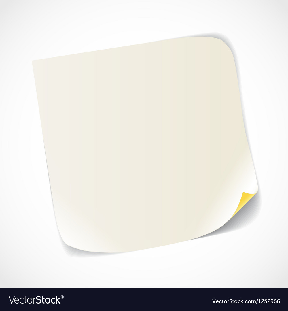 Blank white paper sheet vector | Price: 1 Credit (USD $1)