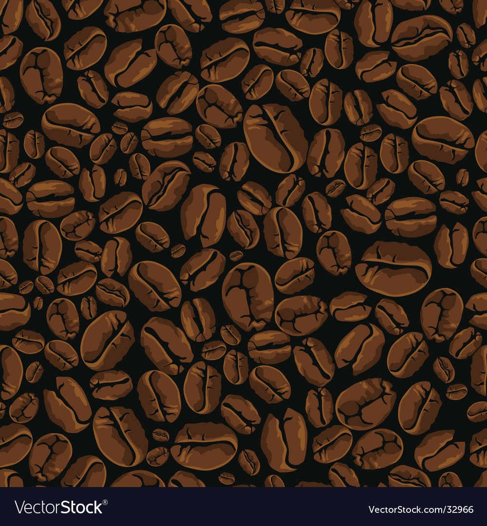 Coffee bean seamless vector | Price: 1 Credit (USD $1)