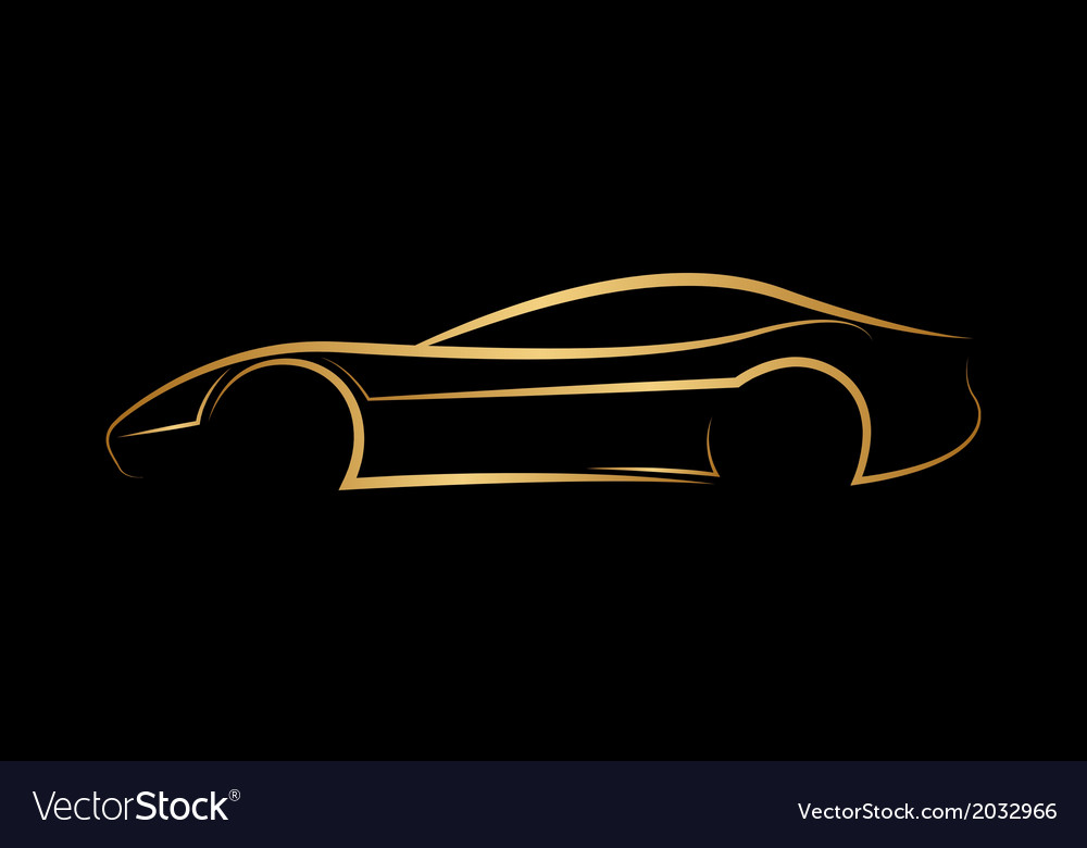 Golden abstract car logo vector | Price: 1 Credit (USD $1)