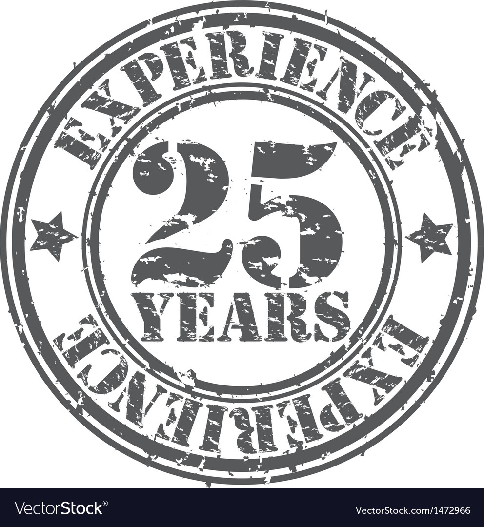 Grunge 25 years of experience rubber stamp vector | Price: 1 Credit (USD $1)