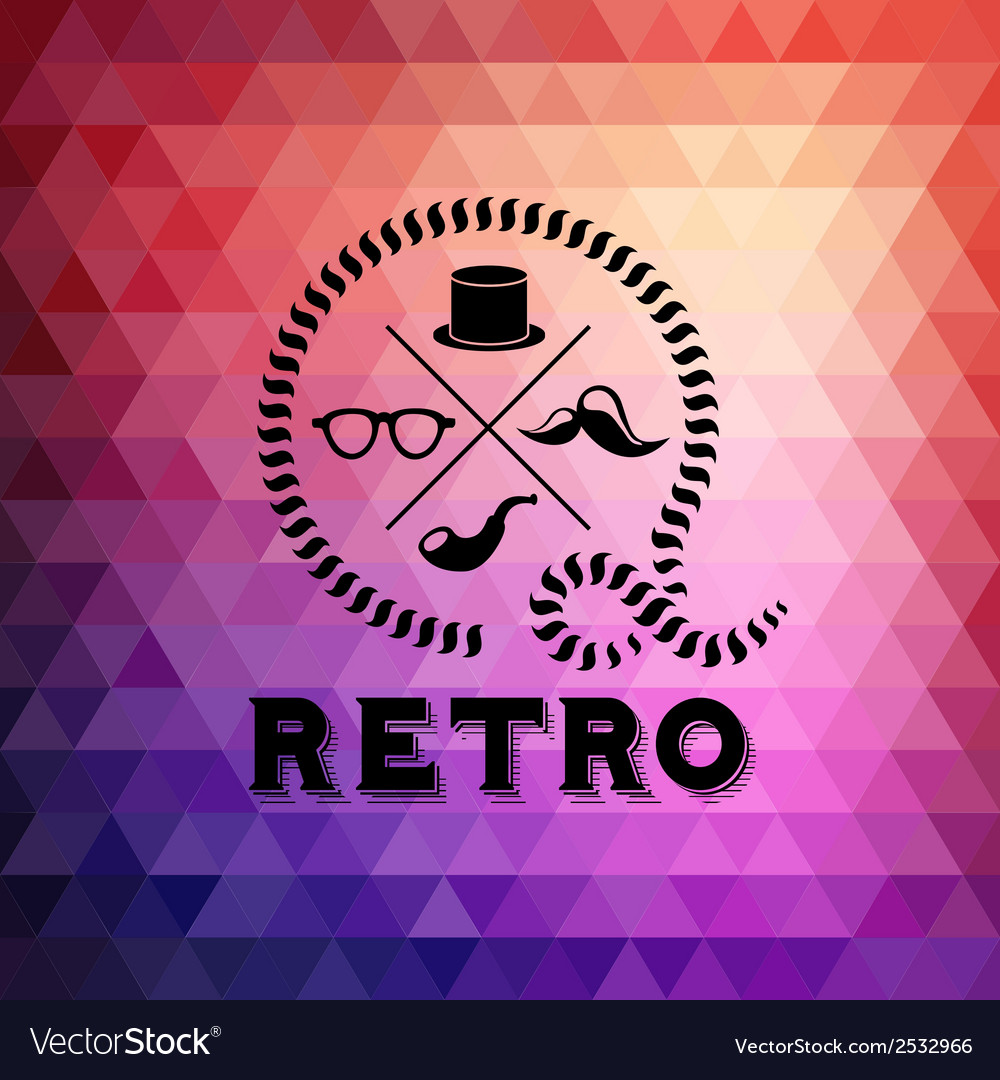 Hipster theme label background made of triangles vector | Price: 1 Credit (USD $1)