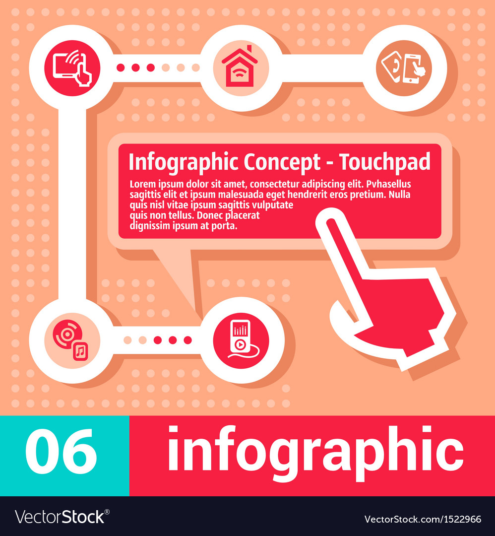 Infographic concept touchpad vector | Price: 1 Credit (USD $1)
