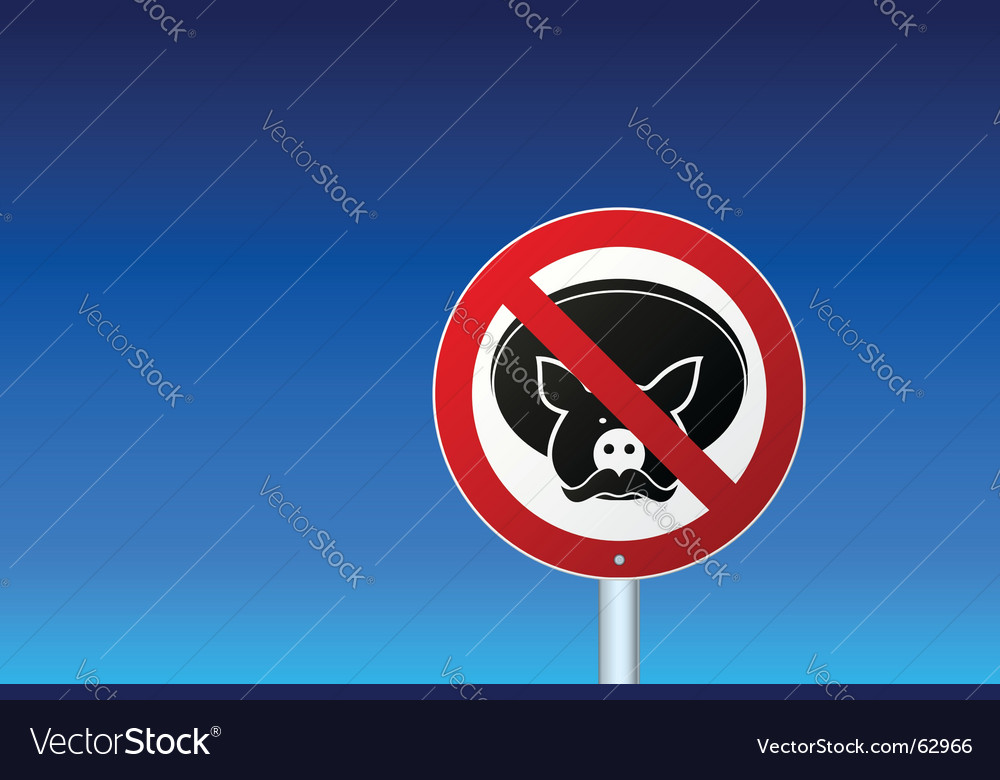 No mexican pork sign vector | Price: 1 Credit (USD $1)