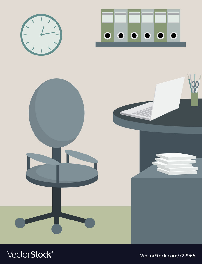 Office furniture vector | Price: 1 Credit (USD $1)