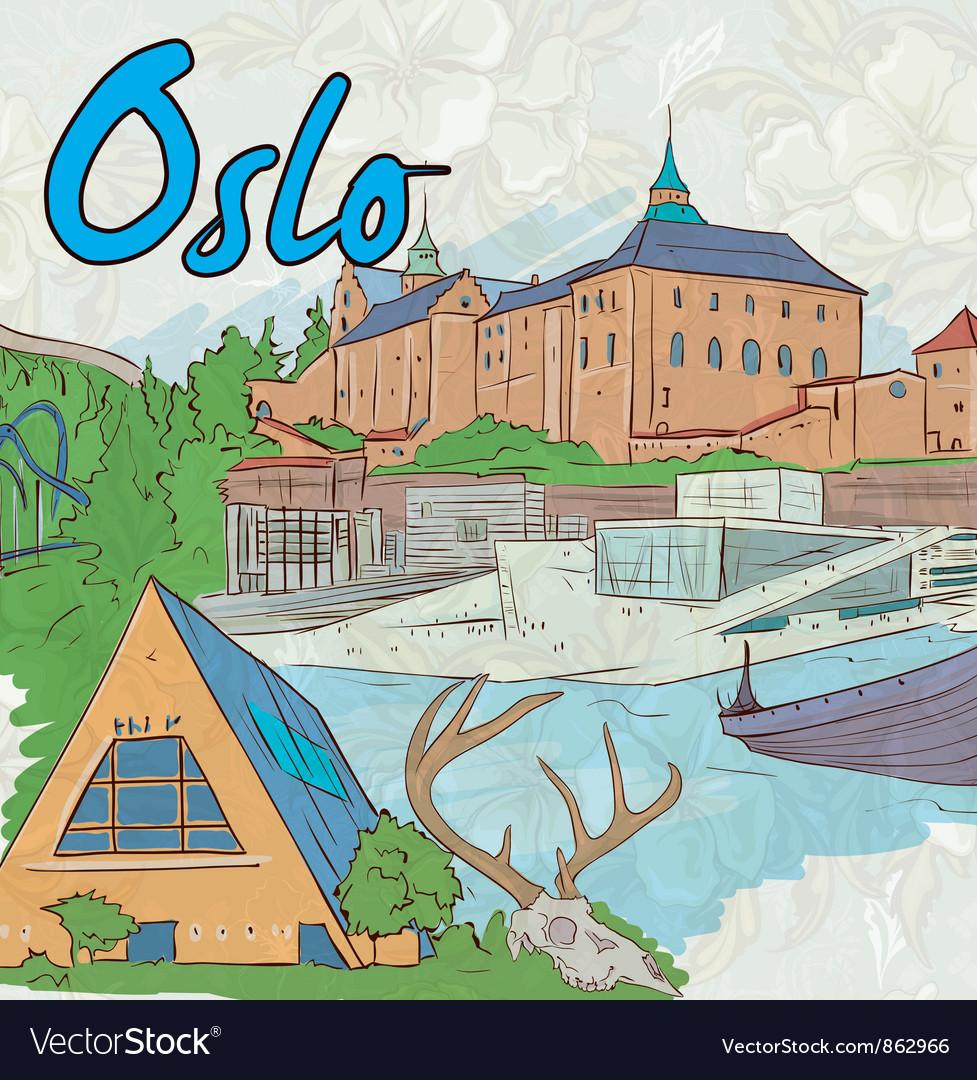 Oslo doodles vector | Price: 3 Credit (USD $3)