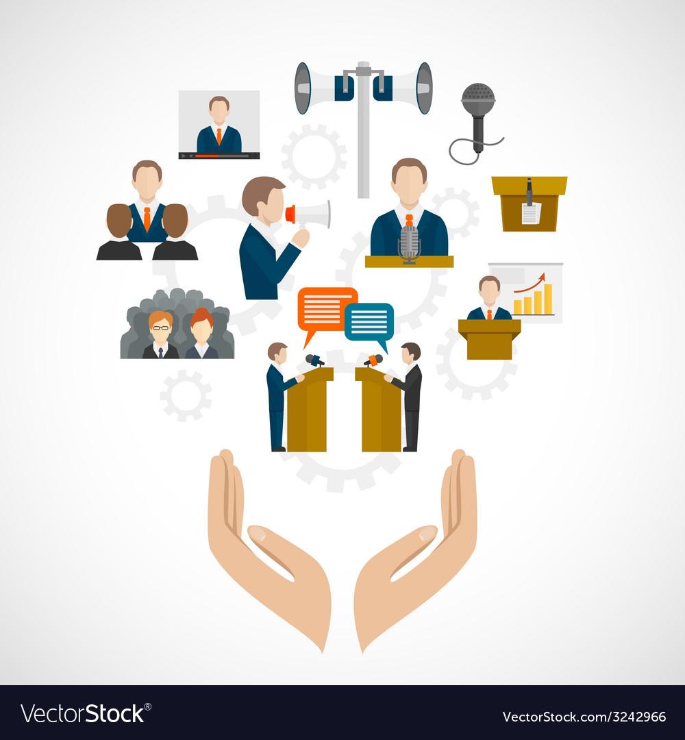 Public speaking concept vector | Price: 1 Credit (USD $1)