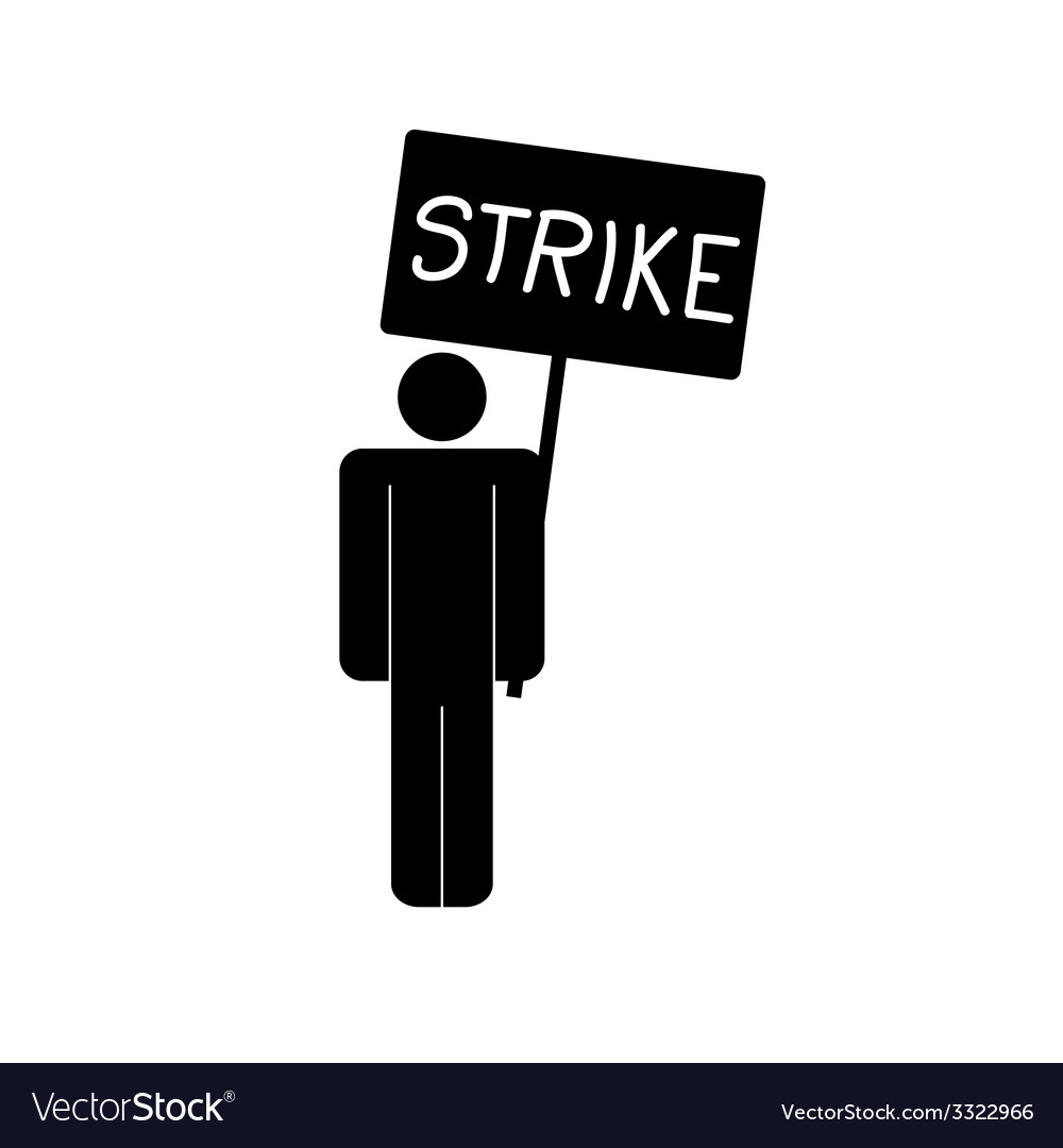 Strike icon with man vector | Price: 1 Credit (USD $1)