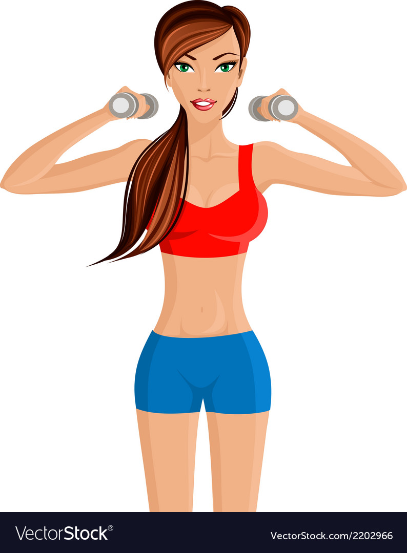 Young sexy woman fitness vector | Price: 1 Credit (USD $1)