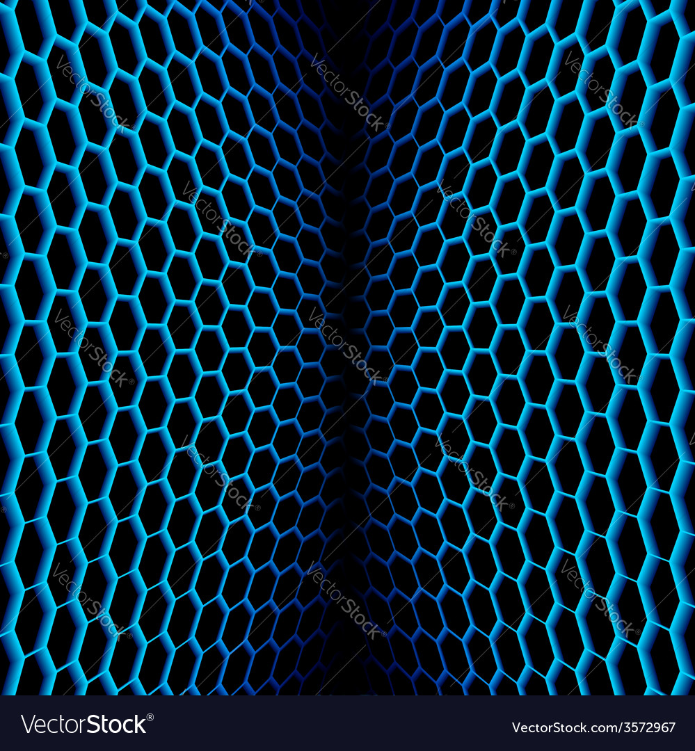 Abstract wavy net with hex cells vector | Price: 1 Credit (USD $1)