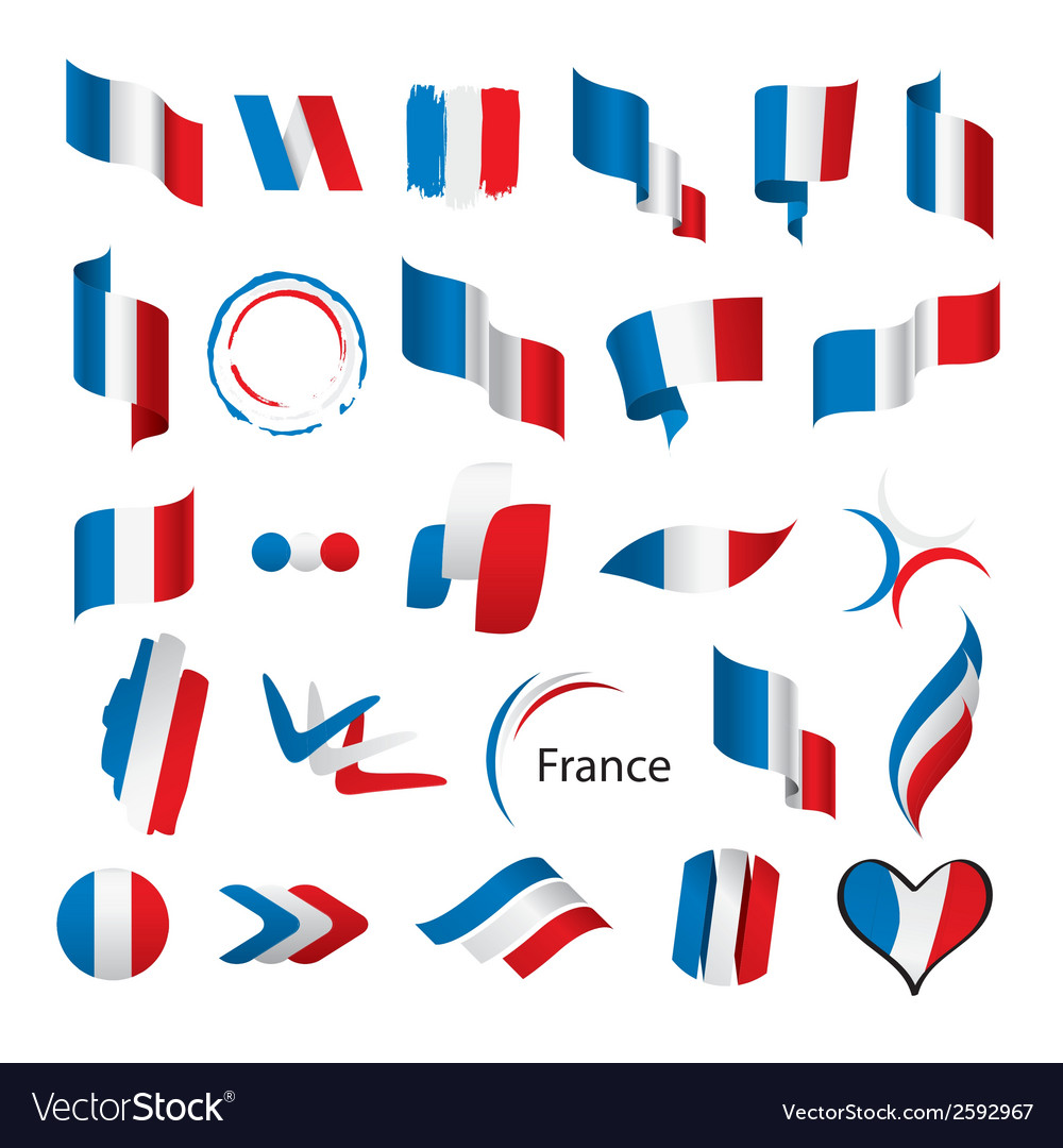 Biggest collection of flags of france vector | Price: 1 Credit (USD $1)
