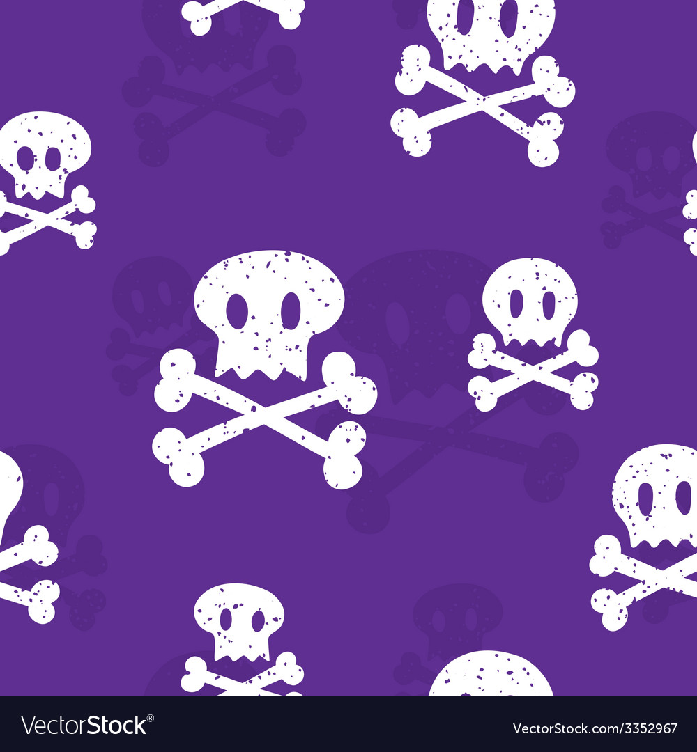 Crossbones pattern purple vector | Price: 1 Credit (USD $1)