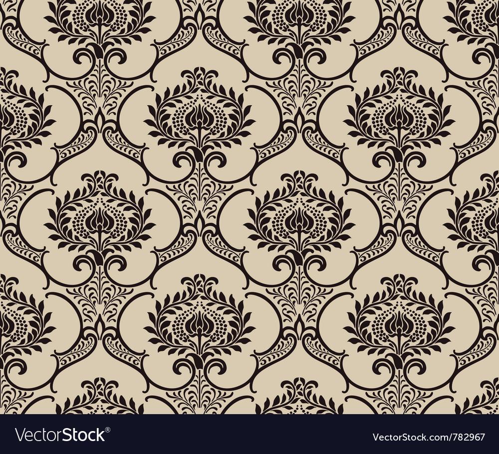Damask wallpaper vector   Price: 1 Credit (USD $1)