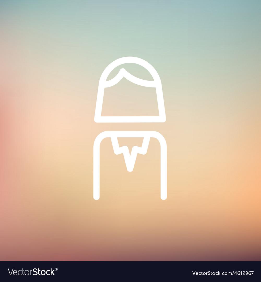 Female thin line icon vector | Price: 1 Credit (USD $1)