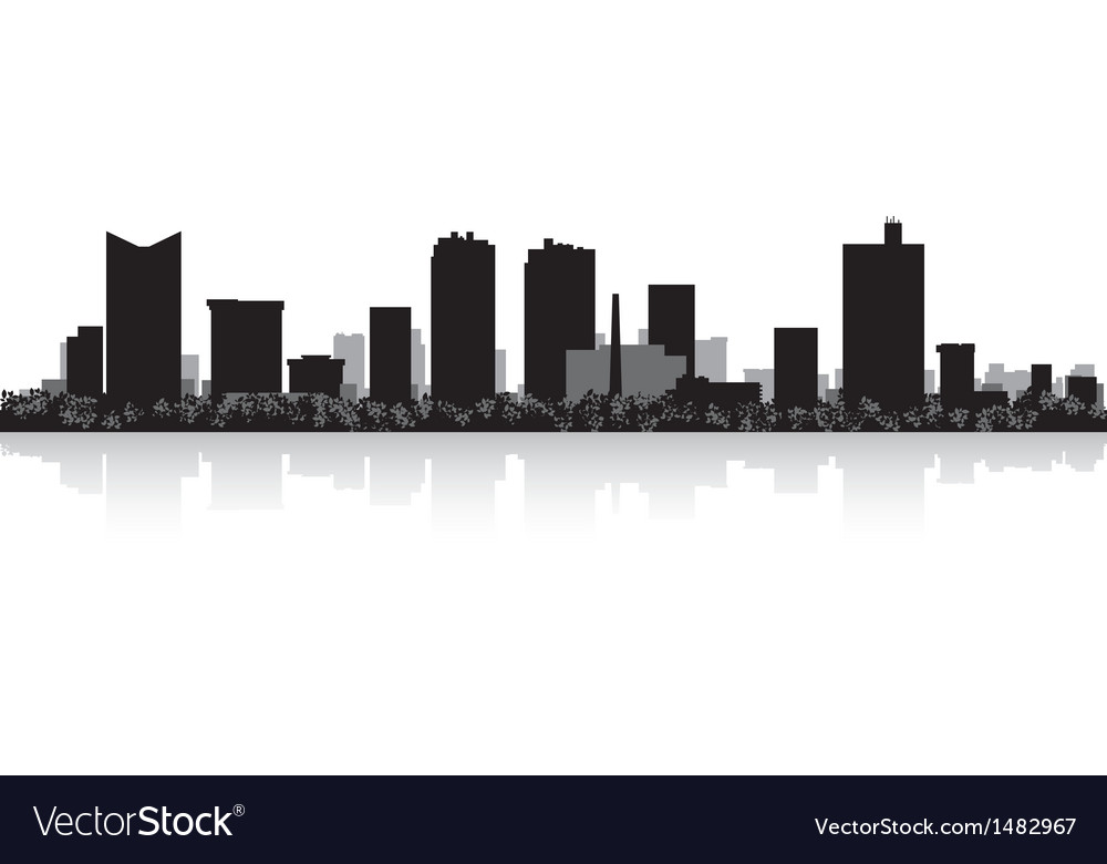 Fort worth usa city skyline silhouette vector | Price: 1 Credit (USD $1)