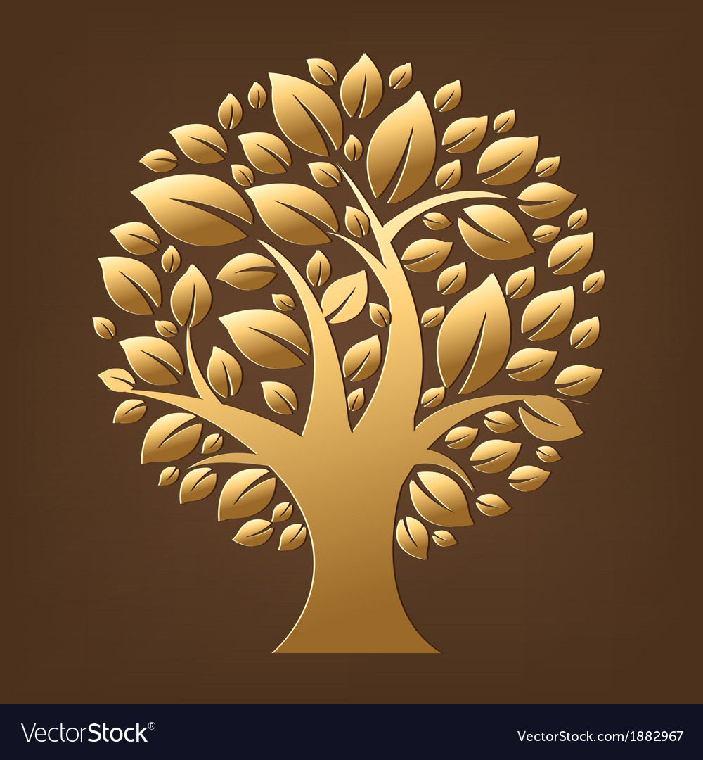 Gold tree vector | Price: 1 Credit (USD $1)