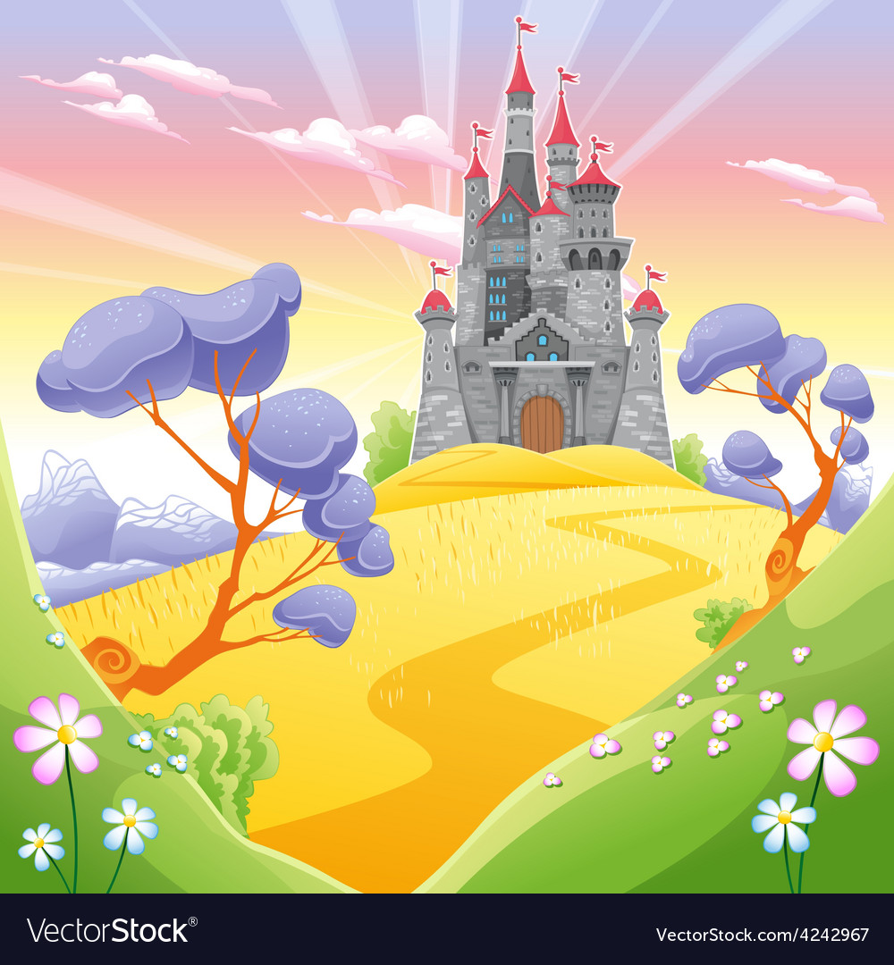 Landscape with tower vector | Price: 3 Credit (USD $3)