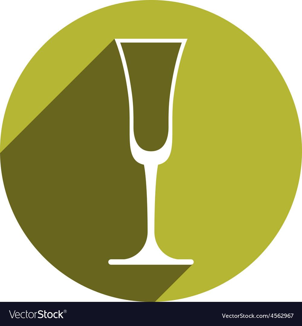 Lifestyle idea conceptual symbol classic champagne vector | Price: 1 Credit (USD $1)